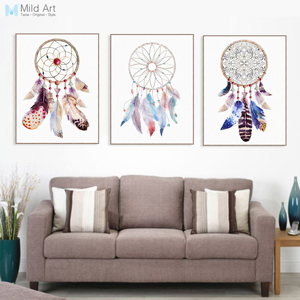 Buy vintage retro indian dream catcher - Wall pictures for living room india ...