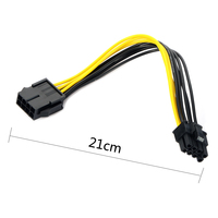 8.28 SALE! 21cm 8 pin to 8 pin 8pin to ( 6+2 ) 8pin extention power cable Adapter Cable 18AWG PCI E for video card Computer Cables & Connectors