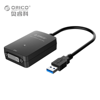 ORICO DU3D BK USB 3 0 To DVI External Graphics For Computer Screen Extention Black
