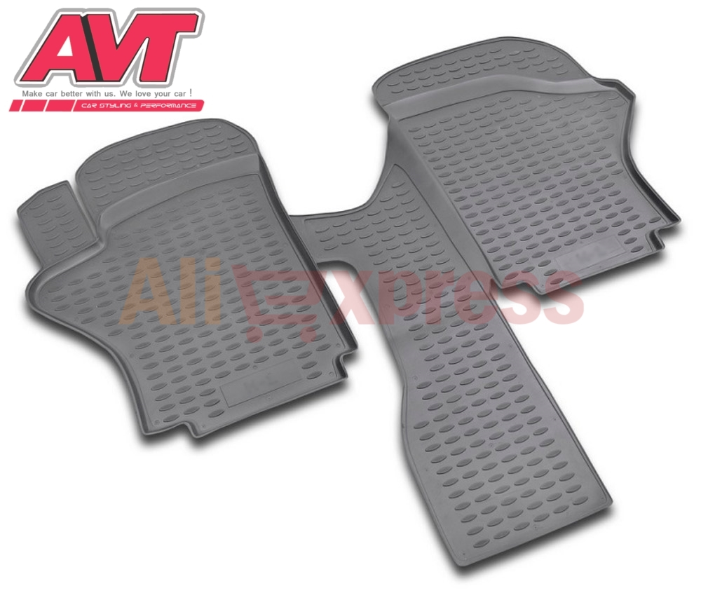 Floor Mats For Hyundai H1 Short 1997- 2007 2 Pcs Rubber Rugs Non Slip Rubber Interior Car Styling Accessories