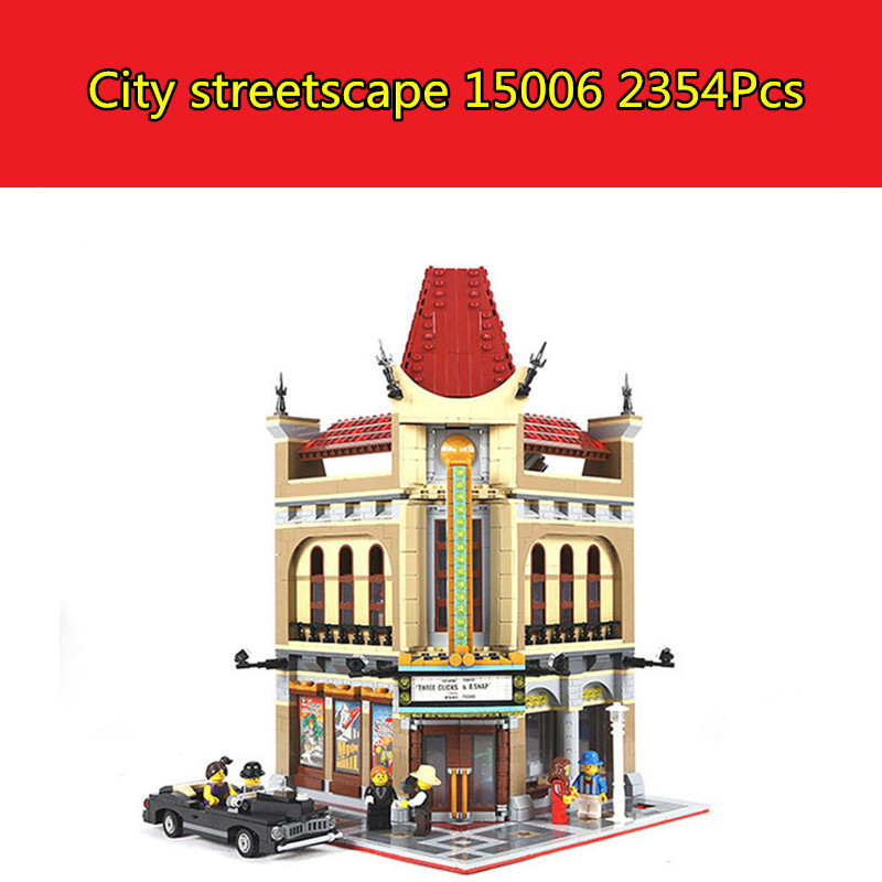 IN STOCK 15006 2354pcs Palace Cinema Model Building Blocks set Bricks DIY Toys Compatible with Lego 10232 Children Gift lepin 02012 city deepwater exploration vessel 60095 building blocks policeman toys children compatible with lego gift kid sets