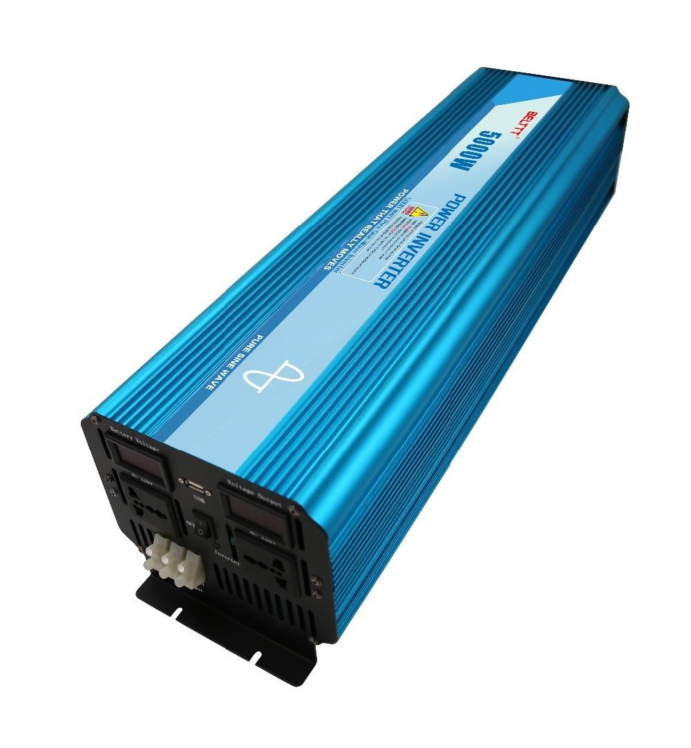 imágenes para 24 V dc a 220 v ac 5000 w de pico 10000 w fuera gird inversor con pantalla LCD sinusoidal tura onda