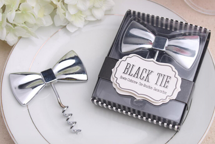100PCS Wedding Favors Party Gifts Bow Design Boot Bottle Opener Gift For Guests