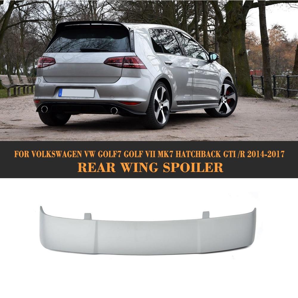 FRP Rear Roof Wing Spoiler for Volkswagen VW Golf 7 MK7 VII GTI R Hatchback 2014-2017 Car Styling Unpainted Grey Primer car styling carbon fiber frp car rear roof spoiler lip for volkswagen vw golf 7 vii mk7 hatchback 4 door standard 2014 2017