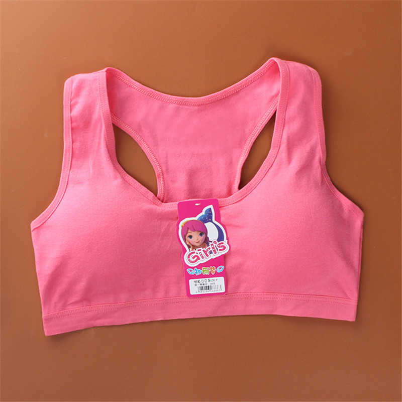 Camisoles Sports Bra Cotton Kids Bra Tops For Teens Training Bra Summer 8-16 Years Adolescente Lingerie