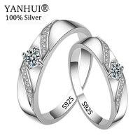 Большой 95% скидка! Яньхуэй 100% оригинальный твердый 925 серебряные обручальные кольца для Для женщин и Для мужчин CZ Циркон ювелирные изделия О