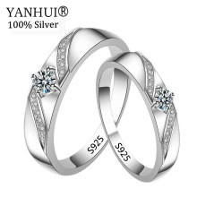 Big 95% OFF! YANHUI 100% Original Solid 925 แหวน(China)