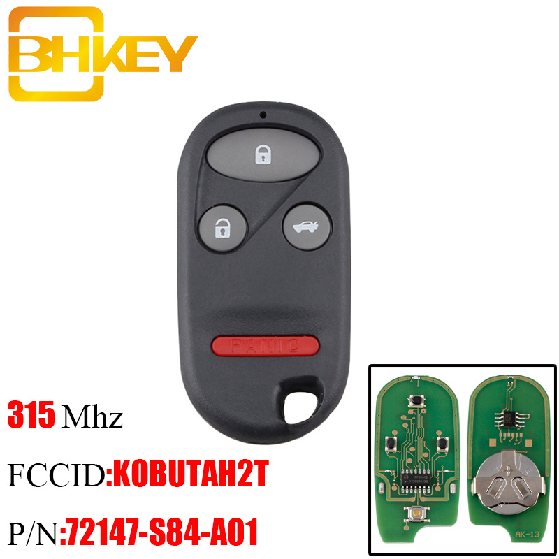 Car Transmitter Alarm Remote Key Fob Control for 2001 2002 2003 Acura CL 4b