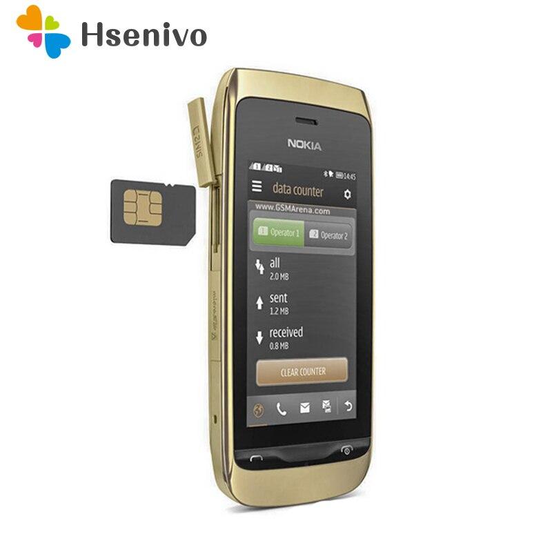 308 100% Original Unlocked Nokia Nokia Asha Charme 3080 308 Mobile Phone 3.0' Bluetooth FM Dual Sim Mobile Phone  Free Shipping