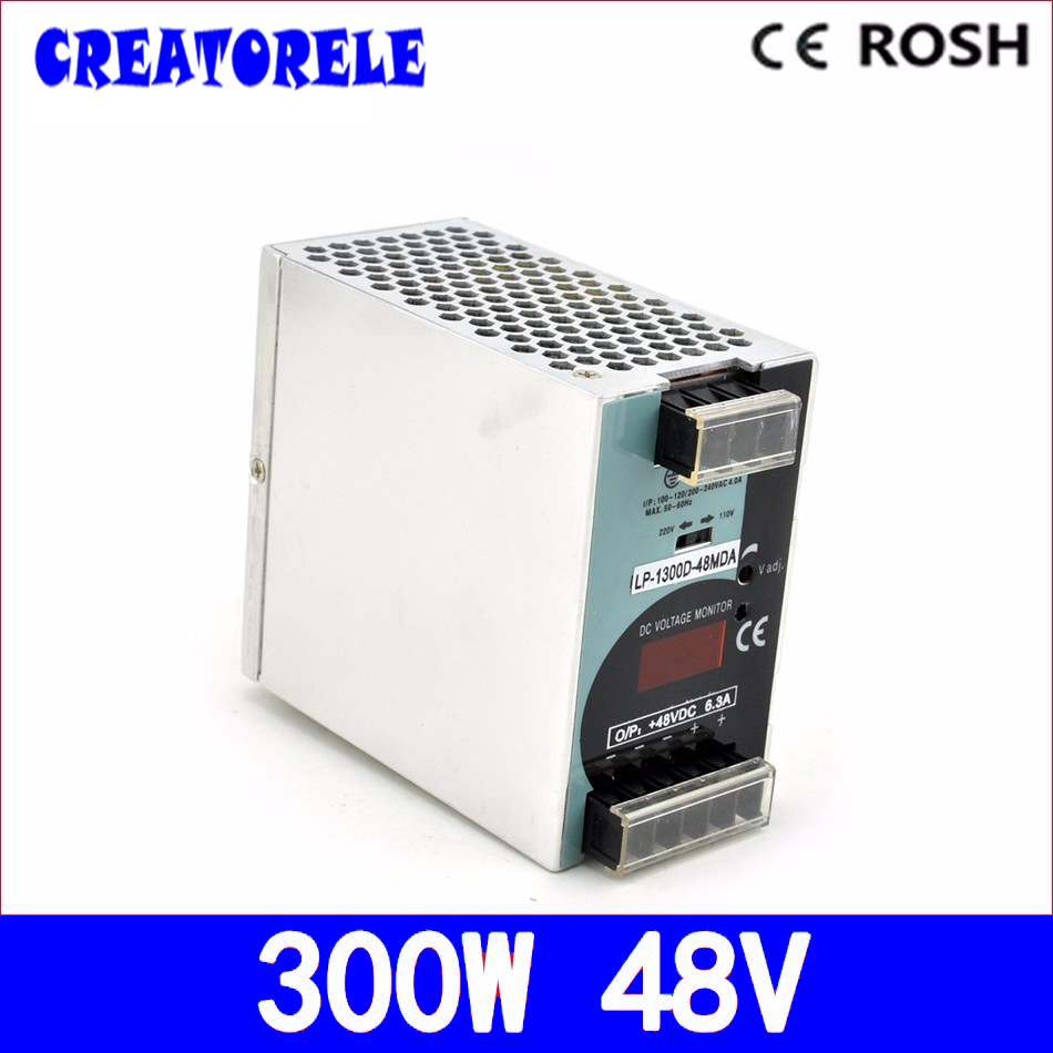 ac to dc din Rail LP-300-48 300W 48v 6.25a Single Output driver led driver source swtching power supply volt 48v 500w din rail switch power without the function of measuring lp 500 48