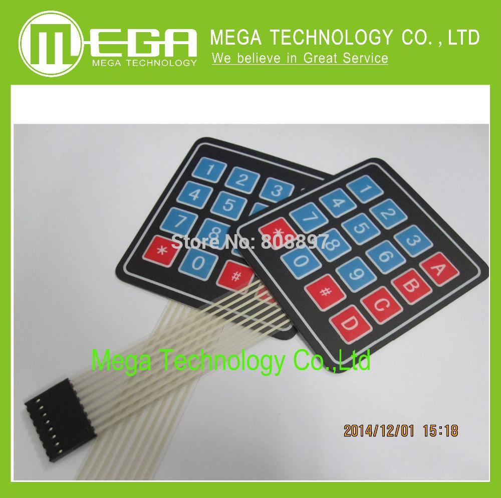 20PCS/LOT 4 x 4 Matrix Keypad Membrane Switch 8 pins connector SCM Outside enlar