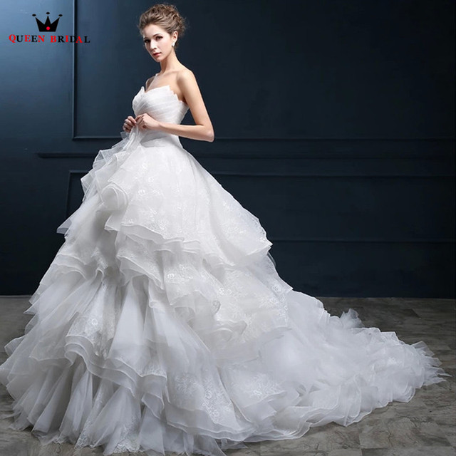 Custom Made Wedding Dresses Ball Gown Sweetheart Ruffle Beaded Luxury Fluffy Robe De Mariee 2018 New  sc 1 st  AliExpress.com & Custom Made Wedding Dresses Ball Gown Sweetheart Ruffle Beaded ...