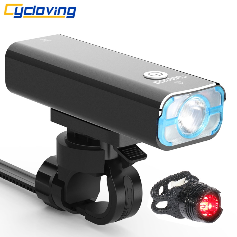 Cycloving Led Bike light Bicycle lights Floodlight 85degree waterproof 1200lumens 5modes recharageable bike accessories
