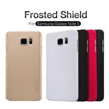 Чехол для Samsung Galaxy Note 5 Note5 N920 Nillkin матовое Щит Жесткий задняя крышка Samsung Примечание 5 чехол Подарок Экран протектор