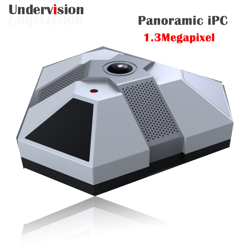 Panoramic 360 Fishey iPC  960P cctv IP network IR 20M camera 1chs Alarm in /out fisheye 360 camera free shipping