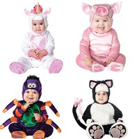 Baby Christmas Halloween Cosplay Costume Pigs cats sharks spiders ponies Jumpsuit Boys Girls Clothes Set Kids Outfits