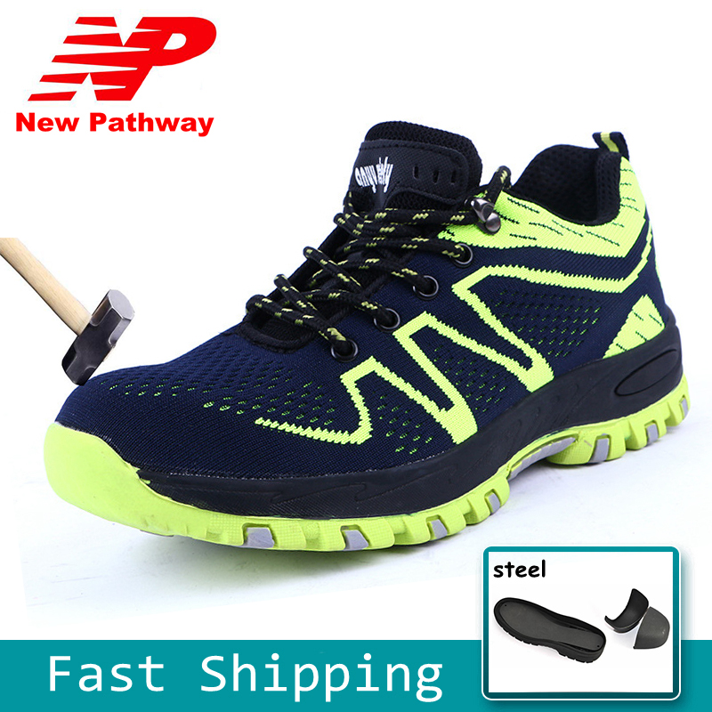 Fashion Design Mens Safety Shoes Steel Toe Gingham Mesh Material Upper and Puncture-proof Soles Plus Size 37-45 MS61Fashion Design Mens Safety Shoes Steel Toe Gingham Mesh Material Upper and Puncture-proof Soles Plus Size 37-45 MS61
