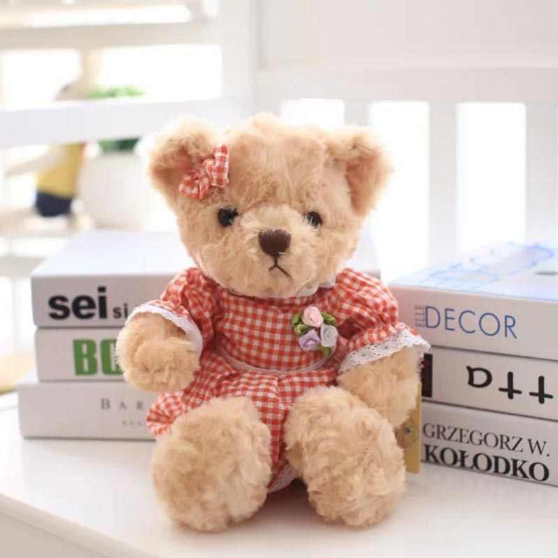 ПК/пара 30 см маленький плюшевый мишка Детская плюшевая игрушка игрушки ребенок успокаивающая кукла милая пара упаковка для подарка с медведем для детей и подружек