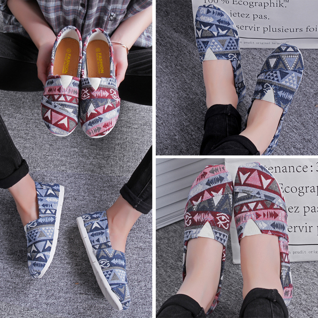f2b4a3ff649 2018 Women's fashion Flat shoes Lazy's espadrilles Women's canvas shoes  girl loafers espadrilles Women Flats shoes size 35-40