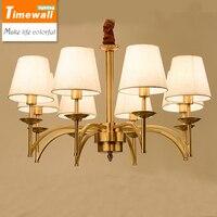 [general province] American lamp Villa Club full of copper lamp simple living room dining room lighting