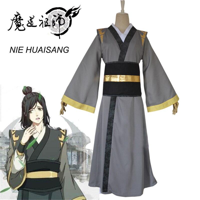 Eraspooky Mo Dao Zu Shi Cosplay NIE HUAISANG Young Grandmaster Of Demonic Cultivation Costume Men Anime Adult Wig Chinese Fan