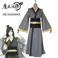 Eraspooky Mo Dao Zu Shi Cosplay NIE HUAISANG młodych wielki mistrz demonów uprawy kostium mężczyźni Anime dla dorosłych peruka chiński wentylator
