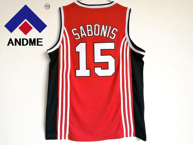 2018 Mens Basket Shirts Throwback Basketball Jersey Arvydas Sabonis #15 CCCP Team Russia Jerseys Red Retro Stitched jerseys все цены