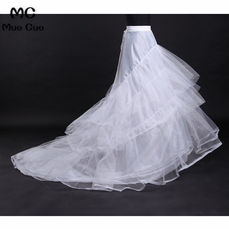 Dependable Wellbridal Underskirt Wedding Skirt Slip Wedding Accessories Chemise 2 Two Hoops For A Line Train Dress Petticoat Crinoline Wedding Accessories