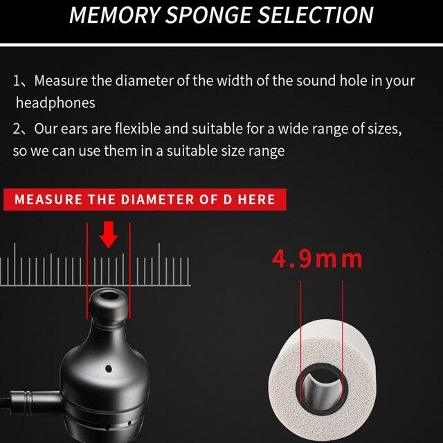 QKZ T400 10 pcs Earphone tips Memory Foam QKZ Original 5 Pairs foam tips T400 Ear Pads for all in ear earphone headset headphone