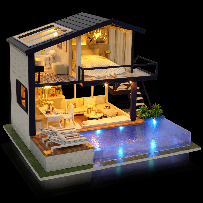Time Apartment DIY 3D Dollhouse Kit