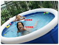 "Large 244x71cm(Dia 8'*28"") Hot-selling Top Ring Inflatable pool/large family swimming pool laminated pool"