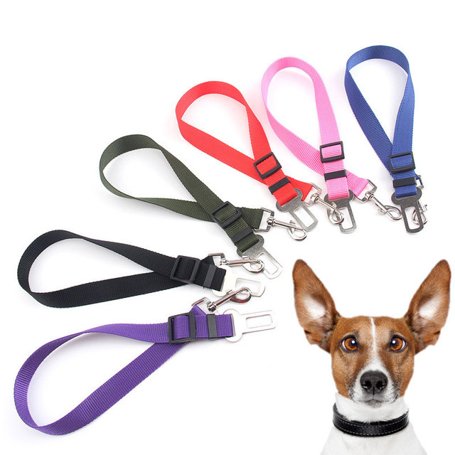 New Dog Pet Car Safety Seat Belt Harness Restraint Lead Adjustable Leash Travel Clip Dog Seat Belt for All Cars High Quality