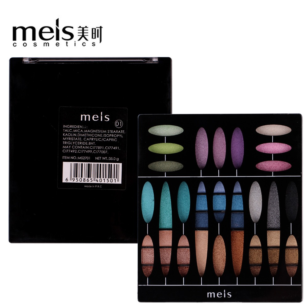MEIS Brand Eye shadow 27 Color Eye Shadow Palette Professional Makeup Eye shadow long lasting Perfect Quality Glitter Eyeshadow