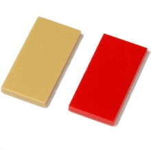 50pcs/lot Brick Parts 2x4 Flat Tiles DIY Block Toy Compatible with Other Brand Assemble Particles(China)