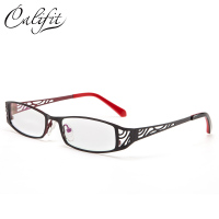 CALIFIT Hollow Pattern Titanium Frame Optical Lens Glasses Women Elegant Office Ladies Brand Design Prescription Eyeglasses New
