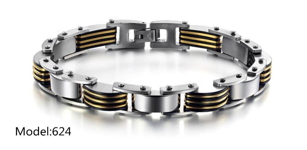 OPK New Arrival Fashion Design Men Bracelet Black And Gold ...