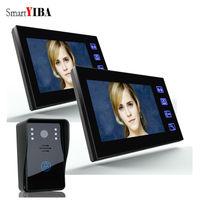 SmartYIBA Video Doorphone Handsfree Night Vision Door Camera Bell Color Touch Monitor 7 inch Louder Speaker Video Intercom