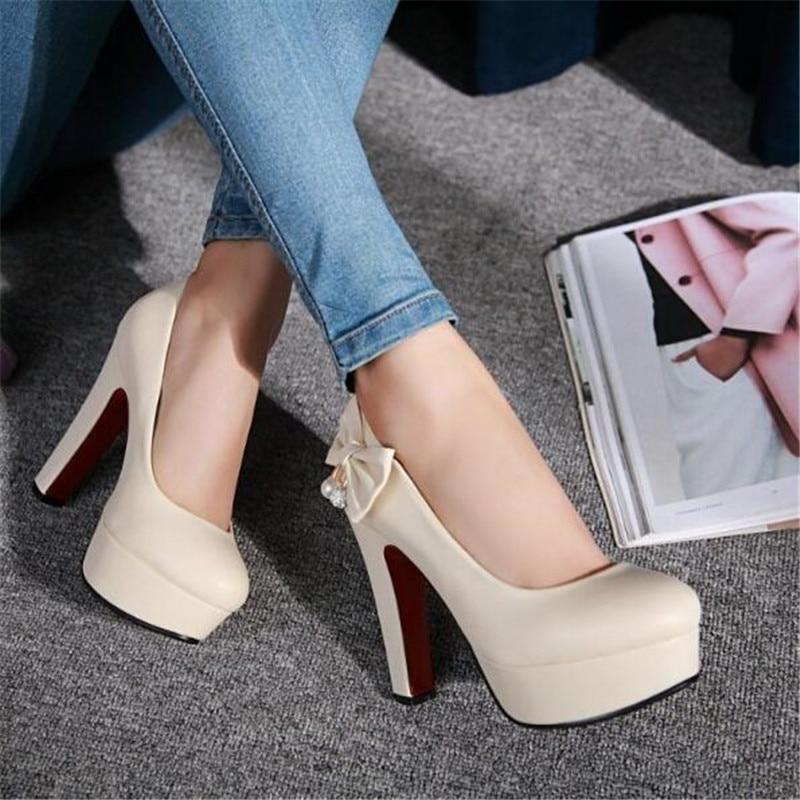 Изготавливаются по индивидуальному заказу тонкие туфли большого размера большой размер 44 45 46 47 туфли на высоком каблуке с бантиком и PU иску...