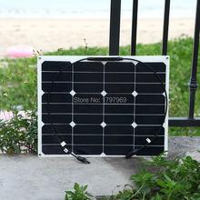 40W flexible back contact solar panel MC4 connector by high efficiency solar cell solar module for