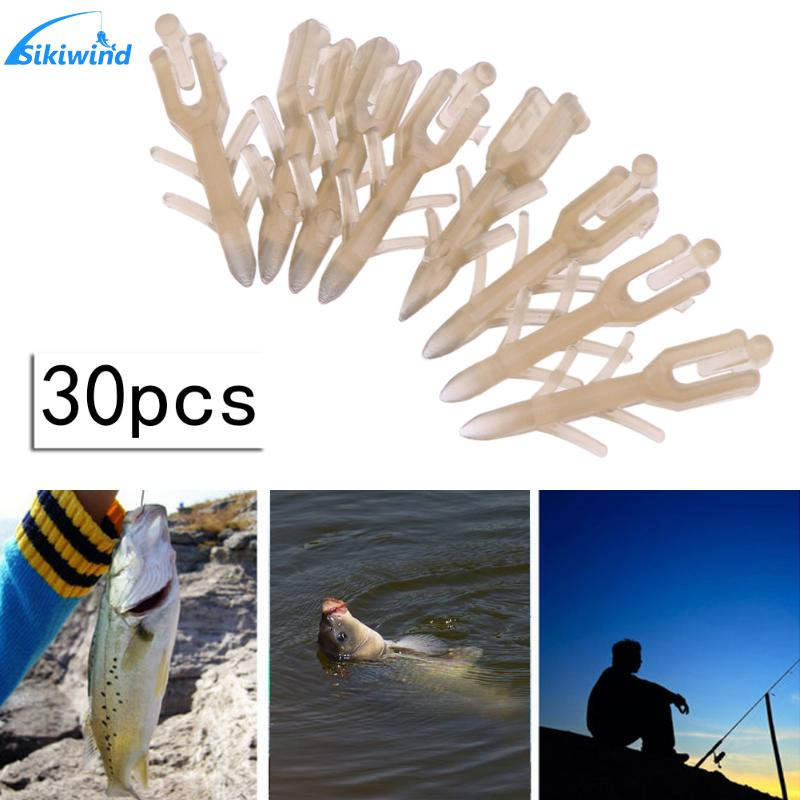 30Pcs Brown Boilie Bait Hair Stops for Carp Bream Tench Barbel Coarse Fishing 15mm 25mm Length Fishing Lure for Carp Hair Rigs