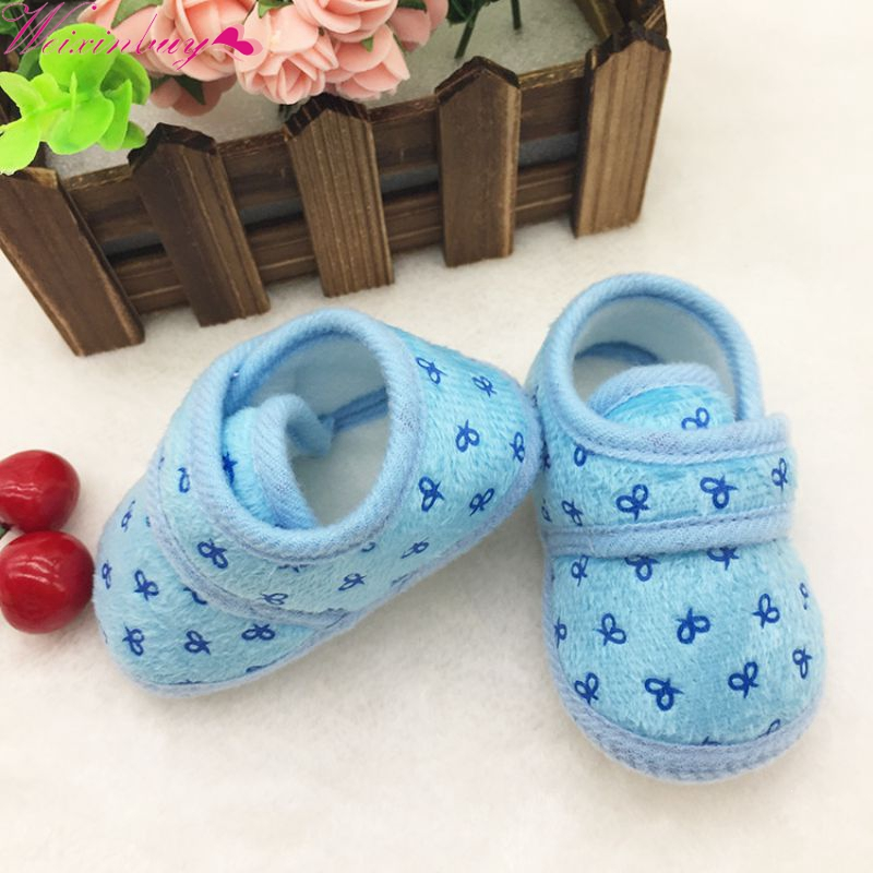 Cute Newborn Infants Kids Baby Shoes Boys Girls Cozy Cotton Soft Soled Crib Shoes First Walkers