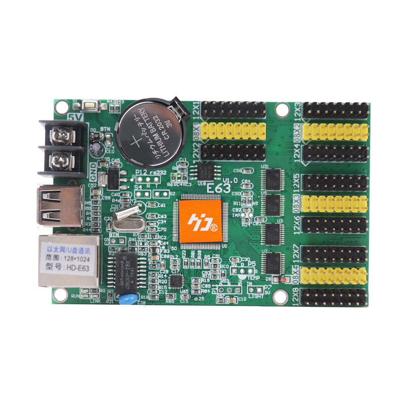manufacture led control card hd-e63 wall screen diy matrix video wall display module led controller