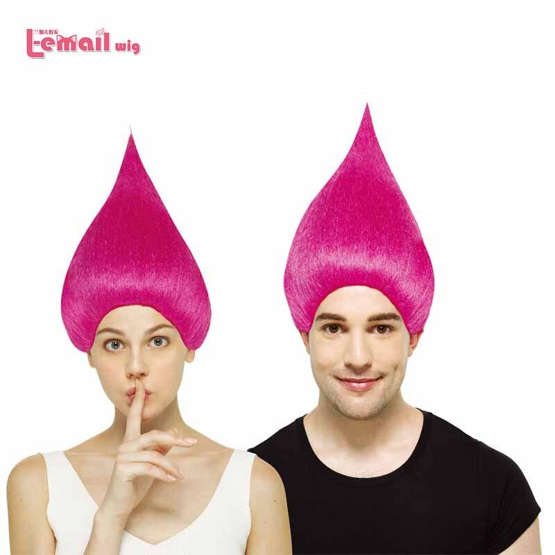 Poppy Headpiece Wig Trolls Movie Fancy Dress Halloween Child Costume Accessory