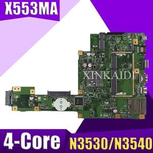 NEW XinKaidi X553MA Laptop motherboard for ASUS X553MA X553M A553M D553M F553MA K553M Test original mainboard N3530/N3540 4-Core(China)