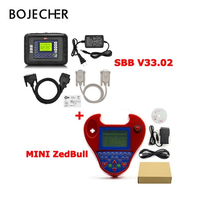 Best Offers DHL Free Auto Key Programmer OBD2 Transponder Silca SBB V33.02 & Mini Zed Bull SW V508 Works Multi-Car Key Maker