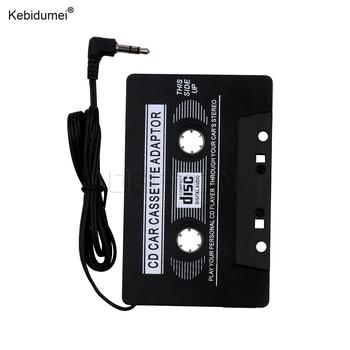 Kebidumei samochód kaseta magnetofonowa adapter stereo taśma konwerter wtyczka jack 3 5mm do telefonu MP3 odtwarzacz CD inteligentny telefon tanie i dobre opinie KYA000237 2 5 Angielski Black 0 08kg ABS Plastic 10x6cm 118i 2015 MP3 Players
