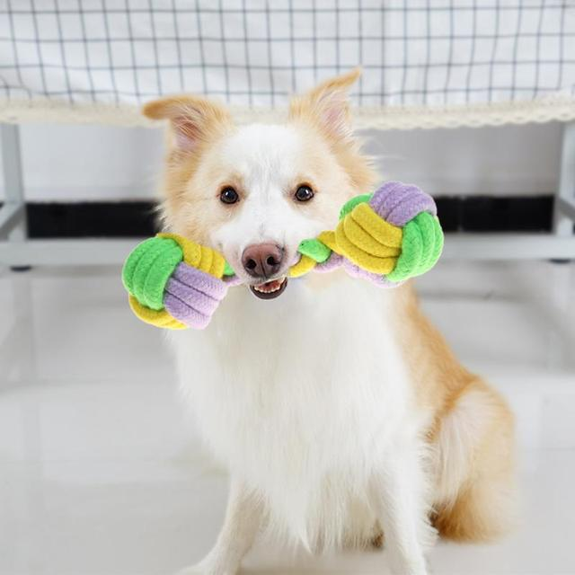 Pet Giocattoli per cani divertente Chew Nodo di Cotone Osso Corda Cucciolo di Cane giocattolo Animali Domestici cani pet forniture per cani di piccola taglia per puppys Colore Casuale