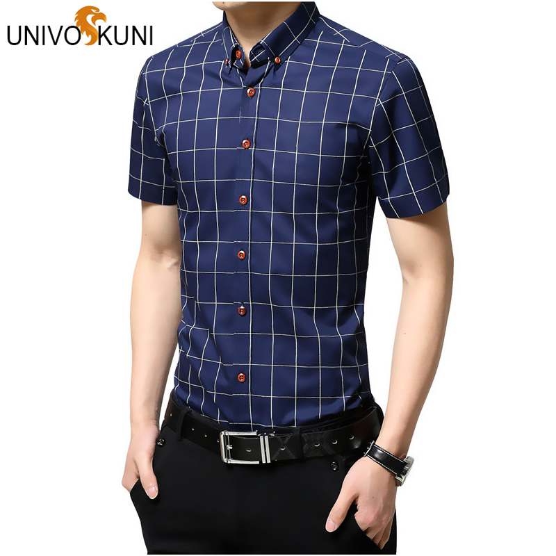 Click here to Buy Now!! UNIVOS KUNI Hommes Chemise À Manches Courtes ... 425366e4aec6