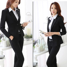 Pantalones Mujer Rushed Mujer Sale Time-limited Single Breasted Polyester Full 2016 Autumn And Winter Professional Women's Suit