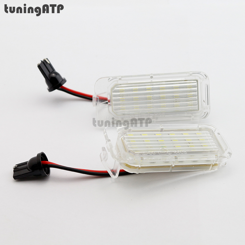 18-SMD LED License Plate Light Lamps for FORD Focus DA3 5D Mk2 Facelift Focus DYB Mk3 new for ford focus ii da